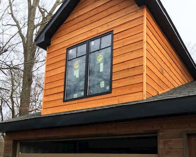 Architect Series Traditional Wood Windows Installed in Home Rebuild