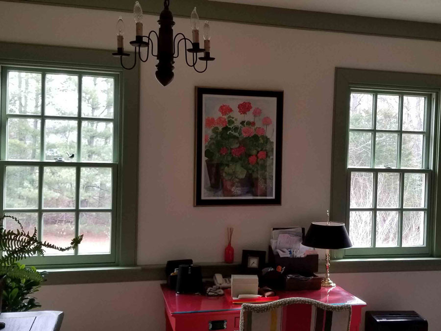 Architect Series wood double-hung windows inside Henrico brick home