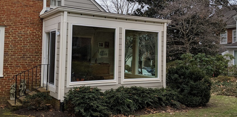 Giant Picture Windows Update Henrico Home's Sunroom