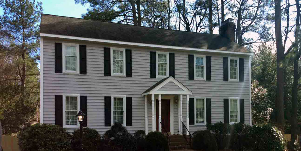 New Pella windows on home in Henrico, Virginia