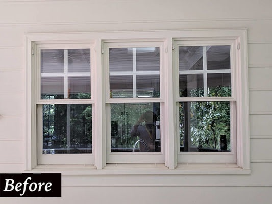 old wood double-hung windows in Midlothian