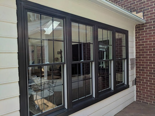 double-hung wood windows