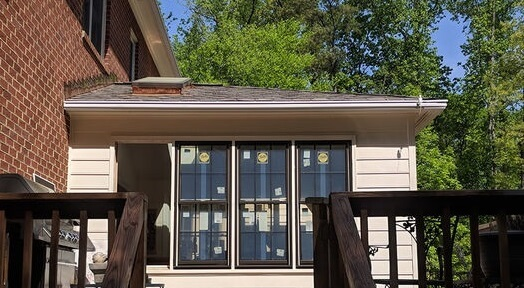 during installation in virginia home with new windows