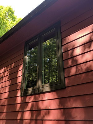 new wood casement window on mineral, va home