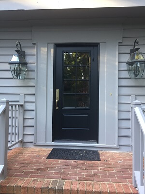 Single Fiberglass Entry Door Replaces Double Entry Door In