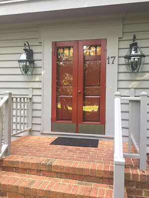 before image of virginia home with new fiberglass entry door
