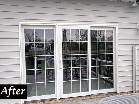 new sliding patio door