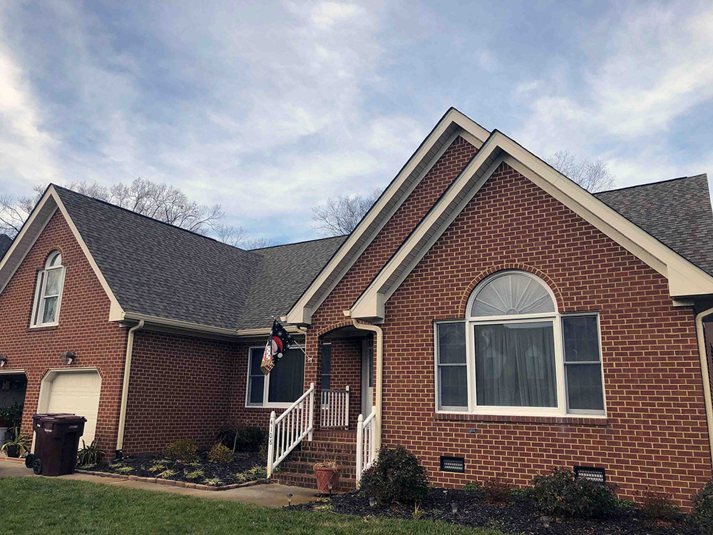 New vinyl windows on front of Virginia Beach home
