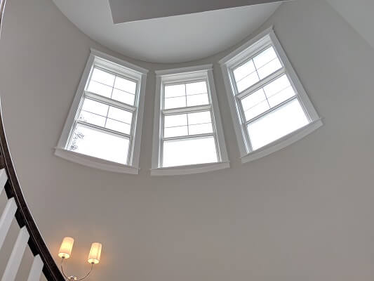 inside image of midlothian home with new wood double hung windows