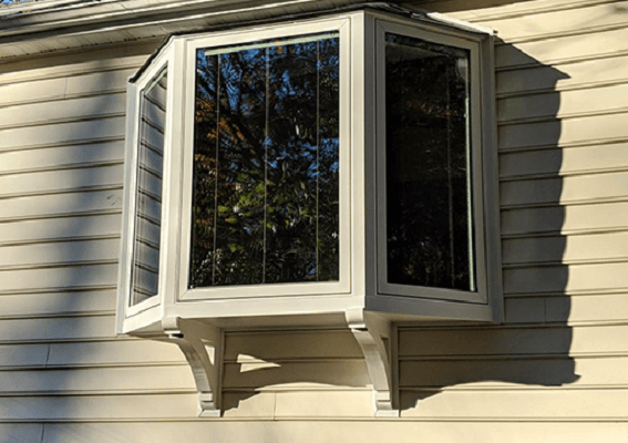 after image of bay window on virginia home