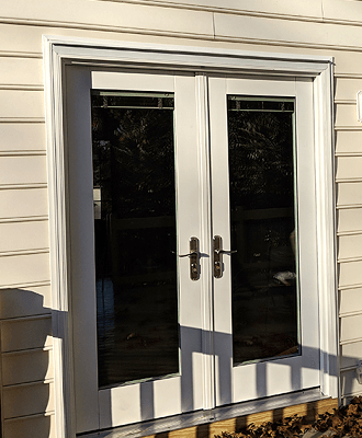 after image of hinged doors on virginia home