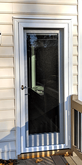 before image of single door in virginia home