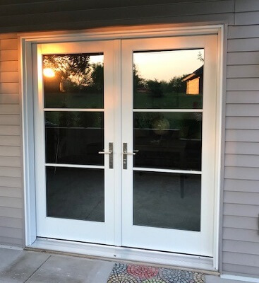 Wood Hinged Patio Door Improves Functionality
