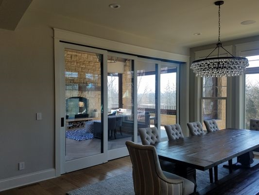 Multi Slide Patio Door In Dubuque Dining Room