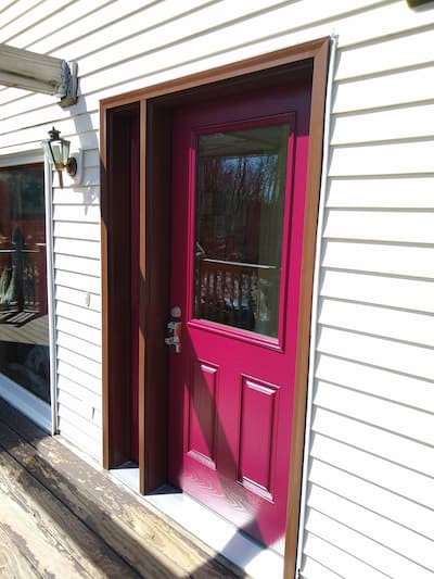 Replacement for Aged Entry Door Brightens Chesterfield Home