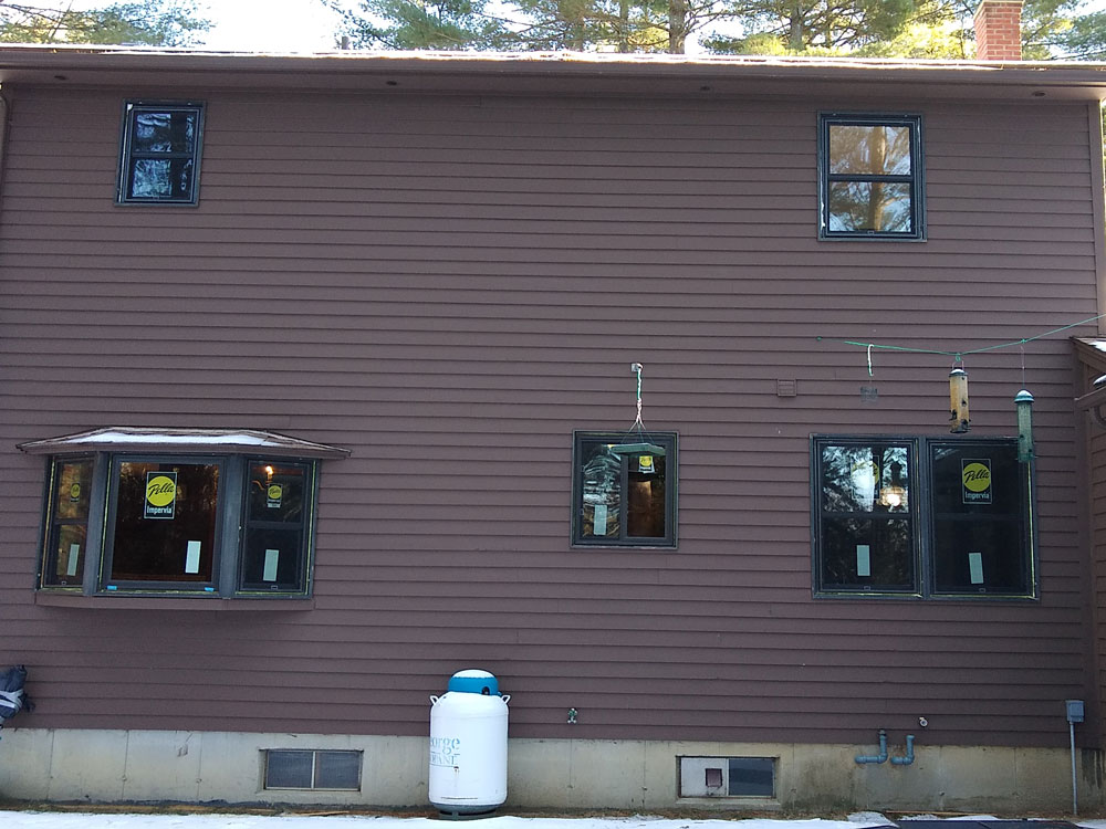 Exterior of back of Southampton, MA, home after whole-home window replacement