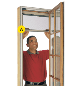 Screens pella branch for Pella casement window screens