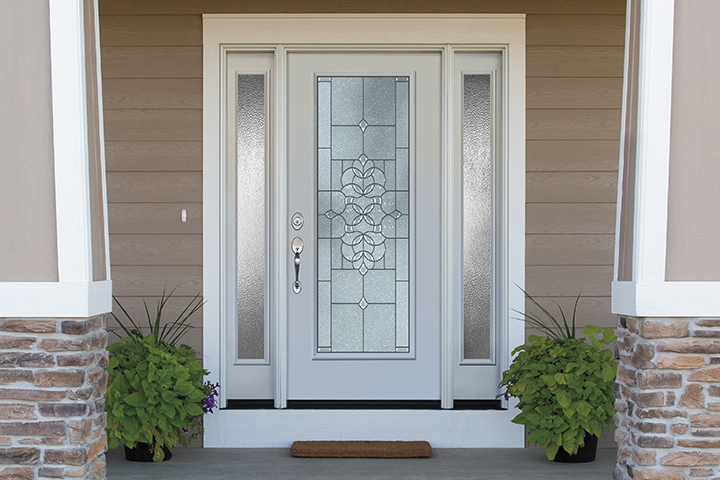 Sidelights and windows on your white entry door