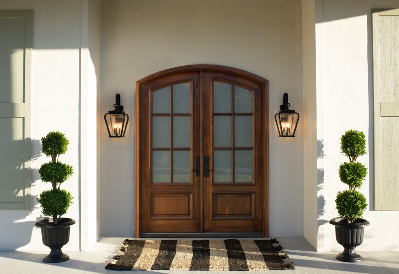 wood entry way