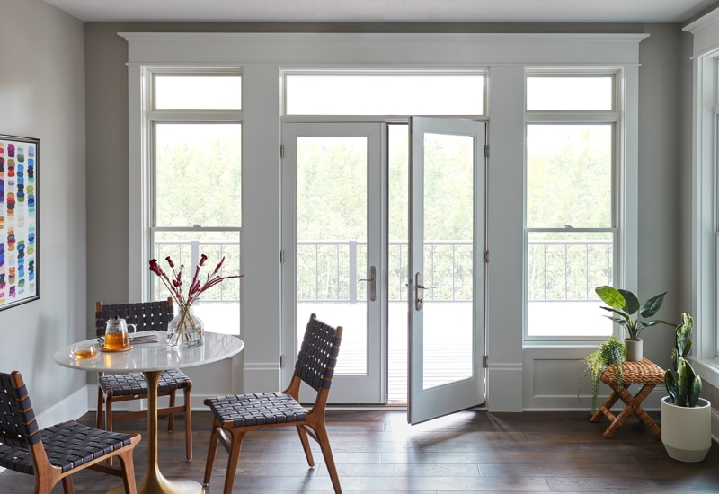 white french patio door