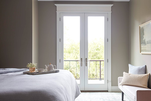 french door in bedroom