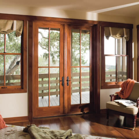Windows door for Double hung french patio doors