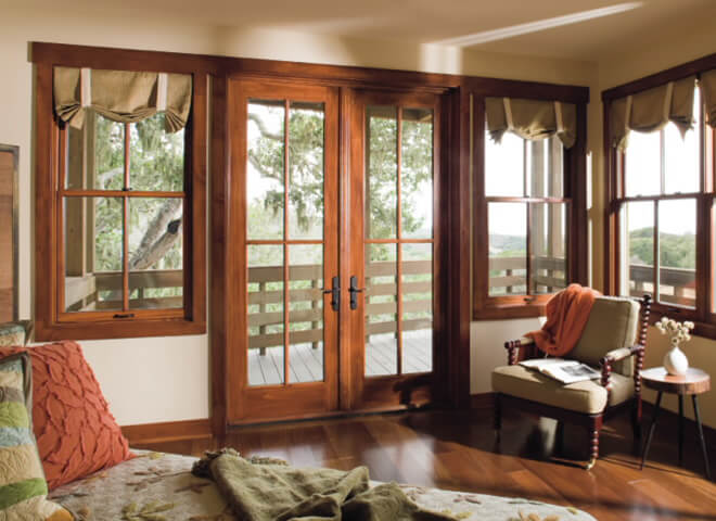 Pella French Patio Doors : Replacement hinged french patio doors pella retail