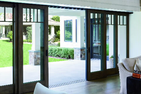 Multiple Panels for sliding glass doors