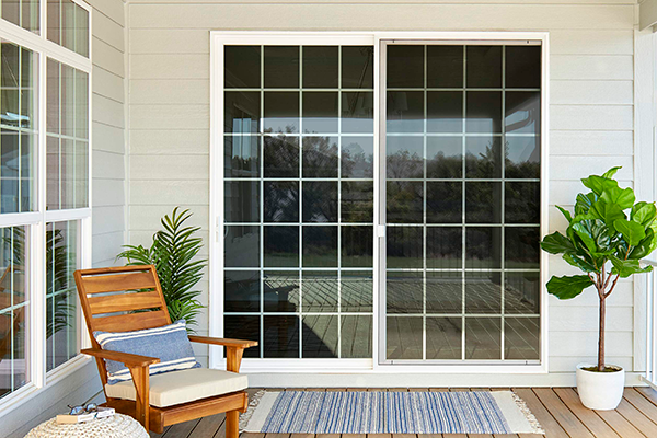sliding patio doors with grilles