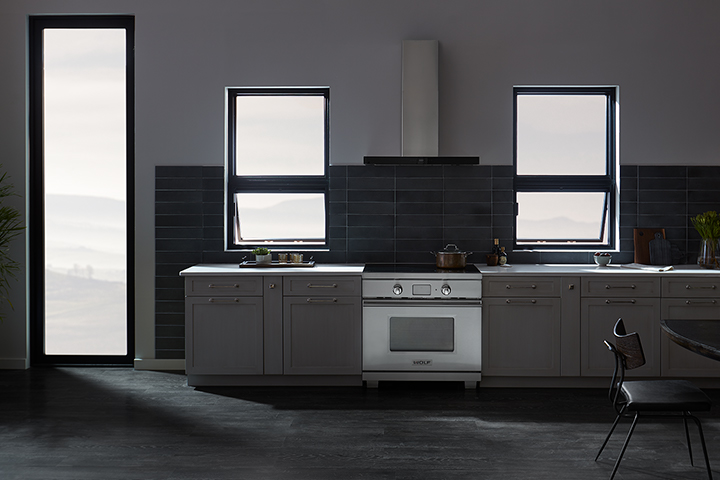 Grey Kitchen Awning Windows